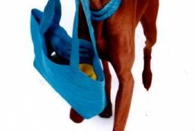 Собака несет сумку